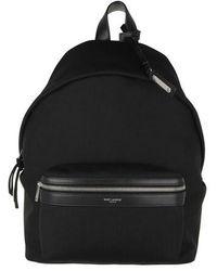 Saint Laurent City Mini Backpack Canvas - Black