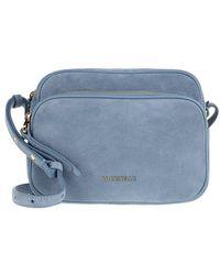 Coccinelle Lea Suede Crossbody Bag - Blue