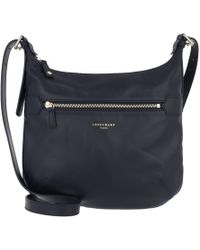 Longchamp - 2.0 Messenger Bag Leather Marine - Lyst