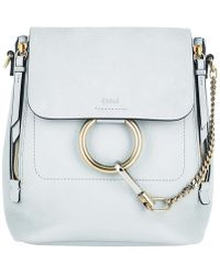 Chloé - Faye Backpack Small Airy Grey - Lyst