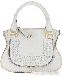 Chloé Marcie Crossbody Bag Stiched Airy Grey - Gray