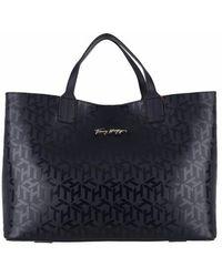 Tommy Hilfiger Iconic Tommy Satchel Bag - Bleu
