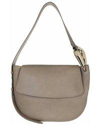 Chloé Small Kiss Hobo Handbag Grain Shiny Calfskin Motty - Grau