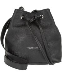 Tru Trussardi - Dollarino Bucket Bag S Black - Lyst