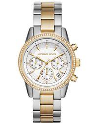Michael Kors - Mk6474 Ritz Watch Silver/gold - Lyst