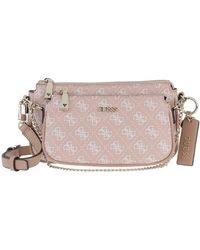 Guess Arie Double Pouch Crossbody Rose - Pink