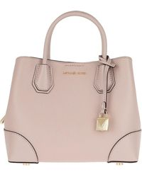 4ceb5418f786 Michael Kors - Mercer Gallery Sm Centre Zip Satchel Bag Soft Pink - Lyst