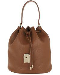 Furla Sleek Small Drawstring Cognac - Brown