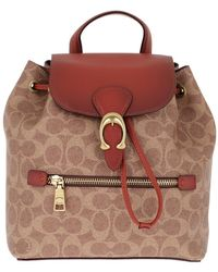 COACH - Canvas Signature Evie Backpack Tan Rust - Lyst
