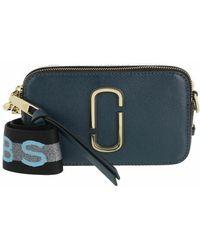 Marc Jacobs Logo Strap Snapshot Small Camera Bag Leather - Bleu