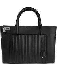 Zadig & Voltaire Candide Large Leather Satchel - Black