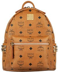 MCM - Stark Backpack Mini Cognac - Lyst