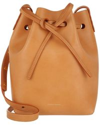 Mansur Gavriel - Mini Bucket Bag Cammello/rosa - Lyst