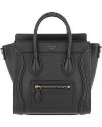 Céline - Autch Luggage Nano Shopper 2way Leather Black - Lyst