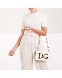 Dolce & Gabbana Witte Barok Schouder Tas Met Logo