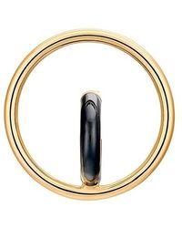 Charlotte Chesnais Earring Drop Saturn Blow - Noir