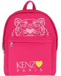 KENZO Tiger Head Backpack Deep Fuchsia - Rose