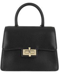 DKNY Jojo Mini Satchel Bag Black/Gold - Noir