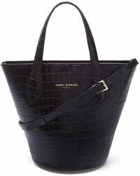 Isabel Bernard Handbag Croco - Schwarz
