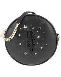 DKNY Krescent Canteen Crossbody Bag Black Gold - Noir
