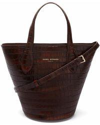 Isabel Bernard Handbag Croco - Braun