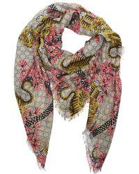 Gucci - Bengal Modal Silk Shawl Rosa - Lyst