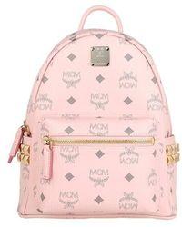 MCM Stark Visetos Monogram Backpack - Rose