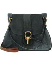 Chloé Lexa Medium Suede Shoulder Bag in Blue - Lyst 8d54aa8d3