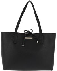 Guess - Bobbi Inside Out Tote Black/burgundy - Lyst