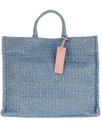 Coccinelle Handbag Straw Fabric Pacific - Blau