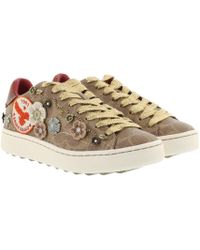 COACH - Low Top Trainer Eagle Squad Patches Tan/rust - Lyst