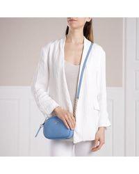 Michael Kors Small Oval Camera Handbag Leather - Blauw