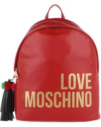 Love Moschino | Backpack Tassel Rosso | Lyst