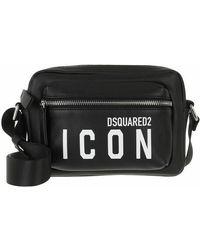DSquared² Logo Shoulder Bag - Noir