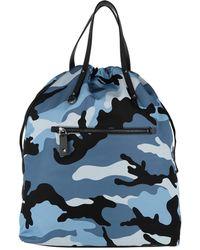 Valentino - Rockstud Backpack Camouflage Nylon Black/blue - Lyst
