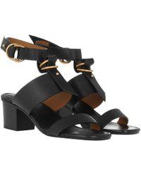 Chloé Kingsley Leather Sandals - Black