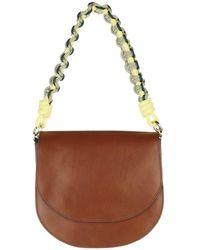 Closed Ally M Handbag Dark Amber - Braun