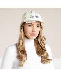 Off-White c/o Virgil Abloh Embr Logo Baseball Cap - Naturel