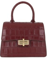 DKNY Mini Jojo Satchel Bag Aged Wine - Red