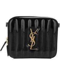 aa9b8ba83a1a Saint Laurent - Vicky Belt Bag Patent Leather Black - Lyst
