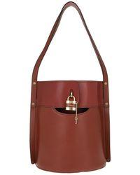 Chloé Aby Bucket Bag Sepia Brown
