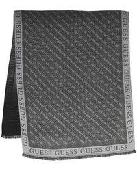 Guess Cathleen Jacquard Scarf 80X180 Coal - Grau