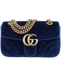 e61cdfa48d3 Gucci Gg Marmont Velvet Mini Bag Pink in Pink - Lyst