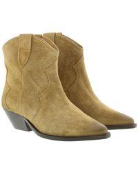 Isabel Marant Boots Used Look Velvet Beige - Neutre