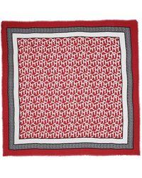 Tommy Hilfiger Monogram Frame Square Scarf Red - Rouge