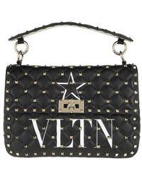 Valentino Garavani Rockstud Medium Quilted Crossbody Bag Nappa - Noir