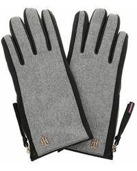 Tommy Hilfiger Th Wool Mix Gloves - Grey