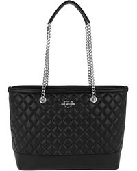 Love Moschino | Quilted Nappa Chain Shopping Bag Nero | Lyst