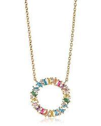 Sif Jakobs Jewellery Antella Circolo Grande Necklace Multicoloured Zirc - Métallisé