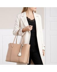 Tory Burch Perry Triple-compartment Tote - Naturel